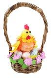 手工制造复活节的篮子 免版税图库摄影