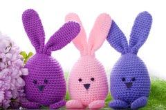 手工制造复活节bunnys 免版税图库摄影
