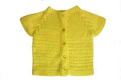 手工制造婴孩的羊毛衫 库存图片