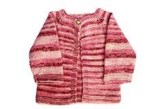 手工制造婴孩的羊毛衫 免版税库存图片