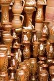手工制造孟加拉国的claypots 库存图片