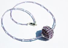 手工制造小珠项链 免版税库存照片