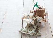 手工制造山羊玩具 免版税库存图片
