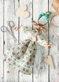 手工制造山羊玩具 免版税图库摄影