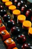 手工制造巧克力大选择在行的 库存图片
