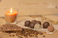 手工制造巧克力candys 库存照片