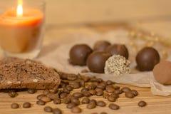 手工制造巧克力candys 免版税库存照片