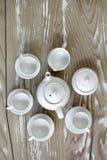 手工制造微型茶具 库存图片
