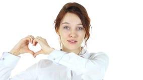 手工制造心脏,爱的妇女 股票视频
