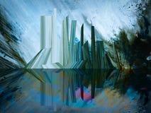 手工制造抽象的绘画 超现实主义和玄妙 抽象背景绘画 皇族释放例证