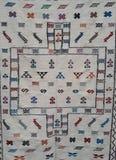 手工制造摩洛哥地毯 图库摄影