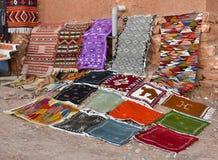 手工制造摩洛哥地毯 免版税库存图片