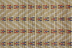 手工制造木竹餐巾背景 免版税库存照片