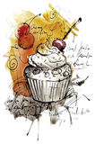 手工制造杯形蛋糕 库存图片