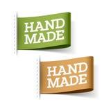 手工制造标签 向量例证