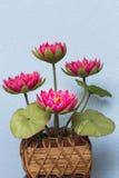 手工制造桃红色的莲花 免版税库存照片