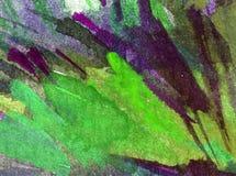 手工制造水彩五颜六色的明亮的织地不很细抽象的背景 地中海横向 小山绘画在沿海的 免版税库存图片