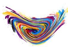 手工制造水彩纹理用不同的颜色,五颜六色 免版税库存照片