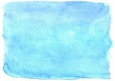 手工制造水彩蓝色抽象背景浪花 免版税库存图片
