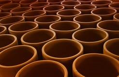 手工制造泥罐 库存照片