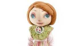 手工制造玩具女孩 免版税库存图片