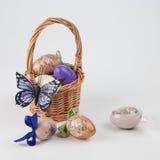 手工制造的复活节彩蛋 免版税库存图片