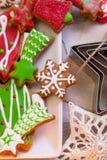 手工制造的曲奇饼板材  库存照片