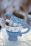 手工制造的杯子 库存图片