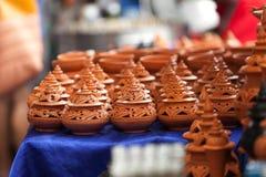 手工制造的陶器 免版税库存照片