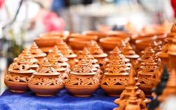 手工制造的陶器 免版税图库摄影