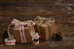 手工制造礼物盒 库存照片