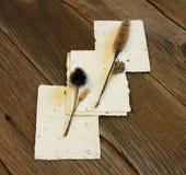 手工制造种子纸张 库存图片