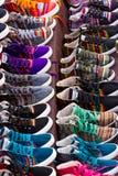 手工制造秘鲁鞋子 免版税库存照片