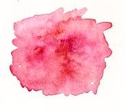 手工制造红色水彩标签 库存图片