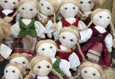 手工制造纺织品玩偶 免版税库存图片