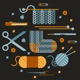 手工制造编织的例证 免版税库存图片