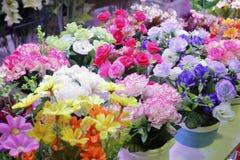 手工制造缝合的花 库存照片