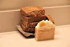 手工制造肥皂 库存照片