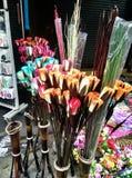 手工制造花在泰国 免版税库存图片