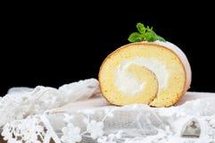 手工制造蛋糕卷 免版税库存照片