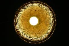 手工制造被编织的木灯 图库摄影
