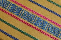 手工制造被编织的危地马拉织品 免版税图库摄影