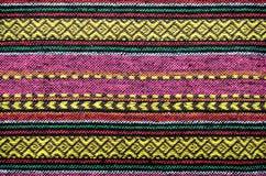 手工制造被编织的棉织物 免版税库存照片