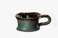 手工制造被绘的杯子 免版税库存图片
