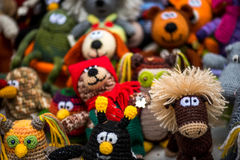 手工制造钩针编织的玩具 免版税库存照片
