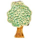 手工制造陶瓷结构树 图库摄影