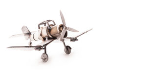手工制造飞机的玩具 库存图片