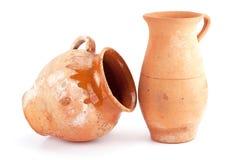 手工制造黏土的水罐 免版税图库摄影