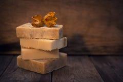 手工制造素食主义者肥皂 免版税库存照片