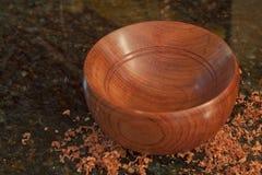 手工制造Bubinga木头碗 免版税图库摄影